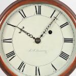 Joseph Nye Dunning Wall Clock, Burlington, Vermont, c. 1820 (Lot 50, $15,000-$25,000)