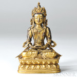 Gilt-bronze Figure of Amitayus, Tibet, 19th century (Lot 94, Estimate $5,000-$7,000)