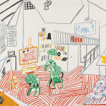 David Hockney (British, b. 1937)  Pembroke Studio Interior, 1984, edition of 70 plus proofs (Lot 24, Estimate $15,000-$25,000)