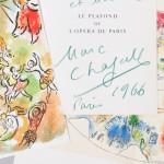 Chagall, Marc (1887-1985), ed. Jacques Lassaigne. Le Plafond de l'Opera par Marc Chagall, Signed by Chagall. Paris: Sauret, [1965] (Estimate $400-$600)