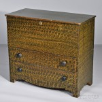 Putty-painted Pine Chest over Two Drawers, New England, early 19th century (Lot 1020, Estimate $1,000-$1,500)