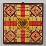 Paint-decorated and Gilt Parcheesi Game Board, America, late 19th century (Lot 1053, Estimate $800-$1,200)