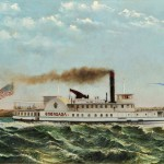 American School, Late 19th Century, Portrait of the Paddlewheel Steamer Onondaga (Lot 1090, Estimate $3,000-$5,000)
