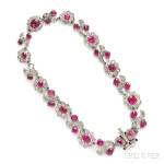 Antique Ruby and Diamond Necklace (Lot 462, Estimate $50,000-$75,000)