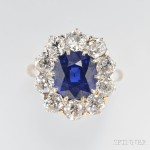 Fine Antique Sapphire and Diamond Ring, Howard & Co (Lot 463, Estimate $100,000–$150,000)