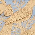 Framed Cutwork Picture of Birds (Lot 360, Estimate $300-$500)