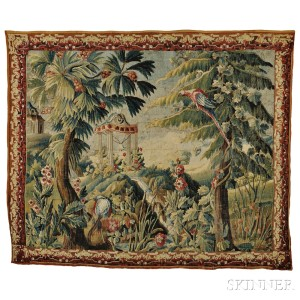 Aubusson Chinoiserie Tapestry, France, late 18th century (Lot 552, Estimate $8,000-$10,000)