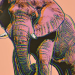 Andy Warhol (American, 1928-1987) African Elephant, from Endangered Species, 1983, edition of 150 plus proofs (Lot 101, Estimate $30,000-$50,000)