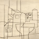 Ben Nicholson (British, 1894-1982) San Gimignano, 1953 (Lot 85, Estimate $6,000-$8,000)