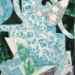 Frank Stella (American, b. 1936) Swan Engraving Blue, Green, Grey, from the series Swan Engraving, 1984, edition of 20 (Lot 94, Estimate $6,000-$8,000)