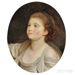 Attributed to Jean Baptiste Greuze (French, 1725-1805) Bust of a Young Woman (Lot 309, Estimate $18,000-$22,000)