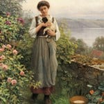 Daniel Ridgway Knight (American, 1839-1924) Young Girl Holding a Puppy (Lot 329, Estimate $50,000-$70,000)