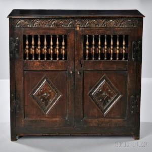 Two-door Oak Livery Cupboard (Lot 585, Estimate $1,200-$1,800)