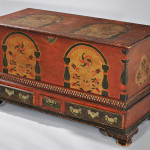 Paint-decorated Dower Chest, Berks County, Pennsylvania, late 18th century (Lot 1068, Estimate $150,000-$250,000)