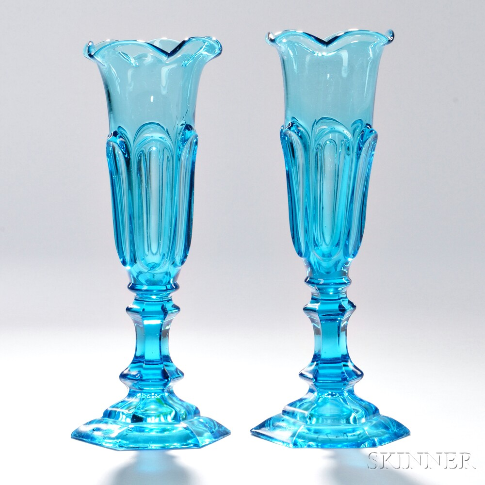 The herbert e green collection of sandwich glass for Jardin glass vases 7 in