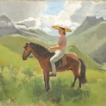Joseph Inguimberty (1896-1971), Portrait of Alix Ayme on Horseback (Lot 43, Estimate $15,000-$20,000)