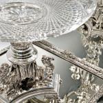 [Detail] Twelve-piece Egyptian Revival Silver-plate and Cut Glass Surtout de Table Service (Lot 28, Estimate $18,000-$22,000)