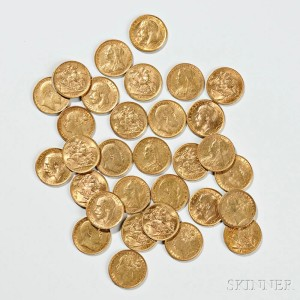 Selection of Gold Sovereign Coins