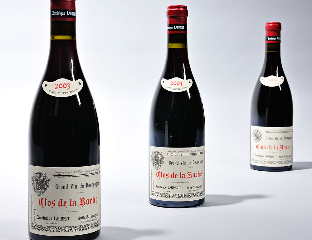 Dominique Laurent Clos de la Roche Grand Cru 2003 (Lot 1089, Estimate $275-$400)