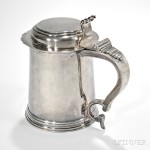 Sterling Silver Tankard, Nicholas Roosevelt (New York, 1715-1769), c. 1750 (Lot 13, Estimate $10,000-$15,000)