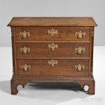 Diminutive Carved Cherry Chest of Drawers, Connecticut, late 18th century (Lot 47, Estimate $3,000-$5,000)