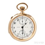 Tiffany & Company 18kt Gold Minute-Repeating Split-Second Chronograph, Switzerland, No. 112218, c. 1900 (Lot 98, Estimate $4,000-$6,000)