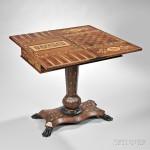Victorian Irish Marquetry Inlaid Games Table (Lot 630, Estimate $800-1,200)
