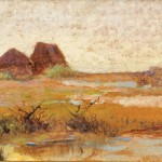 Giovanni Fattori (Italian, 1825-1908)  Plain at Tombolo, Livorno (Lot 222, Estimate $15,000-$25,000)