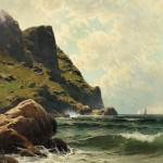 Alfred Thompson Bricher (American, 1837-1908)  Ocean Cliffs (Lot 245, Estimate $22,000-$28,000)
