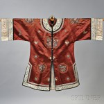 Brown Silk Embroidered Robe, China, late 19th/early 20th century (Lot 1846, Estimate $400-$600)
