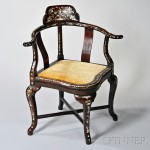 Roundabout Chair, China, 20th century (Lot 2287, Estimate $800-$1,000)