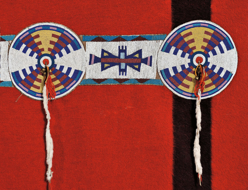Blackfoot Trade Blanket with Beaded Hide Strip, c. late 19th century (Lot 103, Estimate $15,000-$20,000)