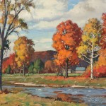 Aldro Thompson Hibbard (American, 1886-1972)  Vermont Landscape, Autumn (Lot 295, Estimate $5,000-$7,000)