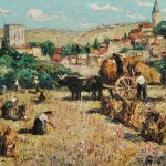 Ernest Lawson (American, 1873-1939)  Harvest, Segovia, Spain, c. 1916 (Lot 324, Estimate $12,000-$18,000)