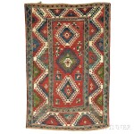 Kazak Rug, South Caucasus, c. 1870 (Lot 101, Estimate $4,000-$5,000)