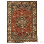 Serapi Carpet, Northwest Iran, c. 1890 (Lot 107, Estimate $6,000-$8,000)
