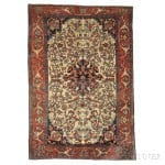 Antique Fereghan Sarouk Persian Rug, Iran, c. 1880 (Lot 16, Estimate $800-$1,200)