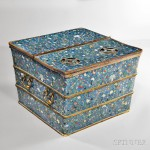 Cloisonne Ice Chest, China, possibly Qianlong period (Lot 69, Estimate $40,000-60,000)