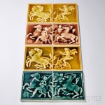 Twenty-four Ceramic Tiles, late 19th/early 20th century (Lot 1080, Estimate $200-$300)