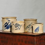 Selection of Cobalt Decorated Stoneware