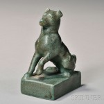 Rookwood Art Pottery Dog Paperweight, 1928 (Lot 1088, Estimate $200-$300)