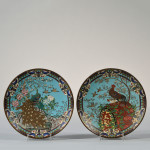 Pair of Asian Cloisonne Dishes, 20th century (Estimate $200-$250)