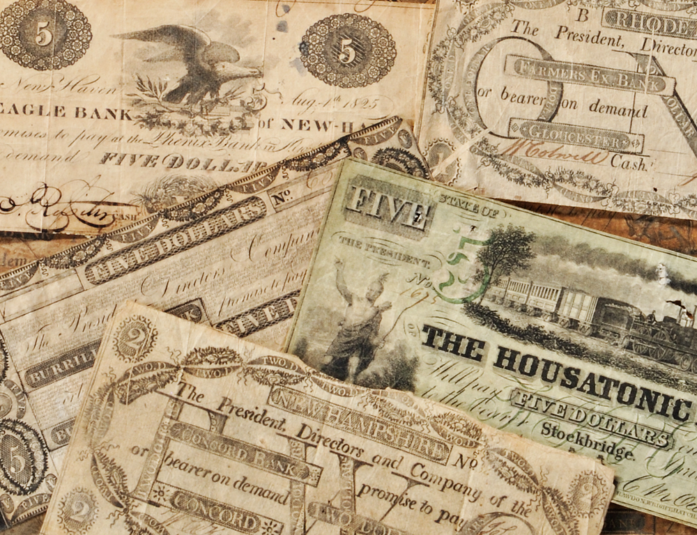 Group of Obsolete Currency (Lot 1092, Estimate $100-$200)