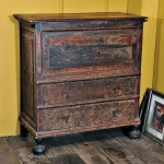 Paint-decorated Blanket Chest over Two Drawers, Guilford, Connecticut, c. 1700 (Lot 117)