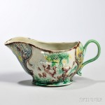Lead-glazed Earthenware Sauceboat, England, c. 1765 (Lot 259, Estimate $2,000-$3,000)