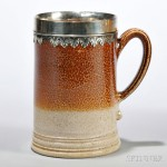 Salt-glazed Stoneware Ale Mug, England, c. 1703-10 (Lot 218, Estimate $5,000-$7,000)