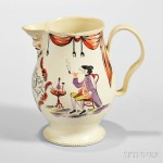 Inscribed Creamware Table Jug, England, c. 1773 (Lot 264, Estimate $2,000-$3,000)