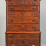 Queen Anne Carved Cherry High Chest, relates to group of furniture from Hartford county, Connecticut, late 18th century (Lot 1033, Estimate $3,000-5,000)