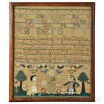 Needlework Sampler 'Mary Shillaber,' Danvers, Massachusetts, c. 1776 (Lot 151, Estimate $10,000-15,000)