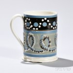 Mocha-decorated Pearlware Quart Mug, England, c. 1820-30 (Lot 201, Estimate $500-700)
